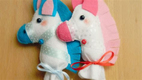 cute felt stick horse diy crafts tutorial