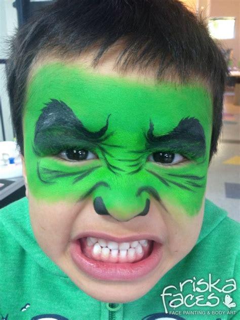Pintar Cara Hulk Facil imagen para colorear
