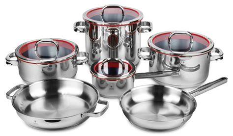 wmf function  stainless steel cookware set  piece cutlery