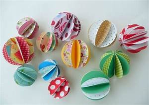 Bricolage Facile En Papier : tuto des boules en papier le bonheur est aussi dans la ~ Mglfilm.com Idées de Décoration