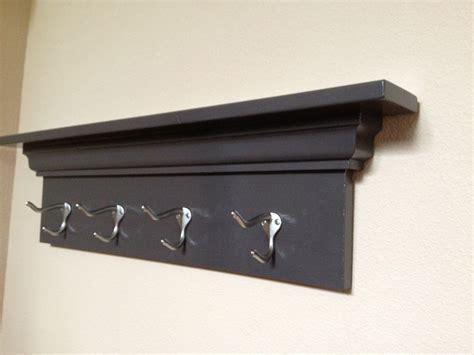 coat hooks with shelf wood coat rack wall mounted home ideas