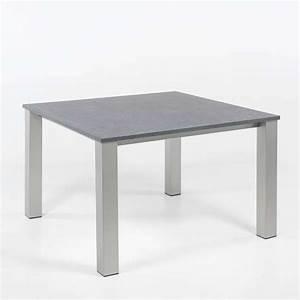 Table Cuisine Carrée : table de cuisine carr e en stratifi et m tal quinta 4 ~ Teatrodelosmanantiales.com Idées de Décoration