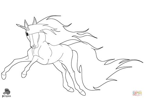 running unicorn coloring page  printable coloring pages