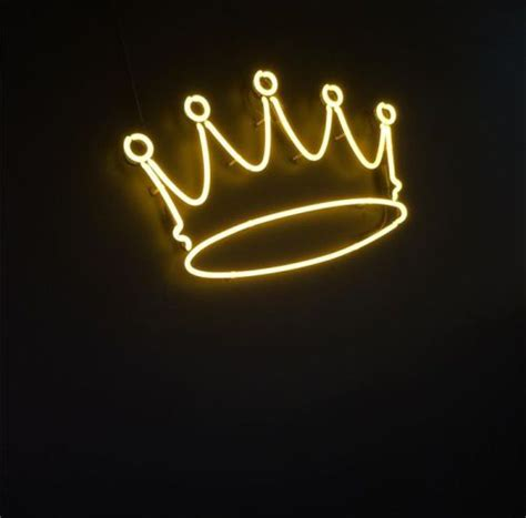 light up sign quotes crown aesthetic