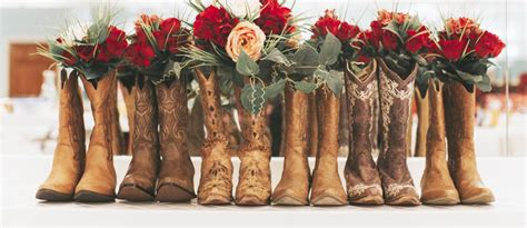 cowgirl boots wedding ideas  country themes wedding