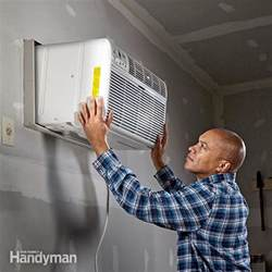 Installing A Garage Air Conditioner  The Family Handyman. Trailer Door Bumpers. Slow Close Door Hinge. 3 Panel Sliding Patio Door. Add On Garage. Behind The Door Mirror. Jalousie Doors. Sliding Glass Dog Door. Door Mats Outdoor