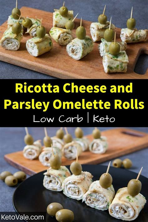omelette rolls  ricotta cheese  parsley  carb
