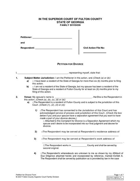 separation decree form best photos of oklahoma county divorce forms sle
