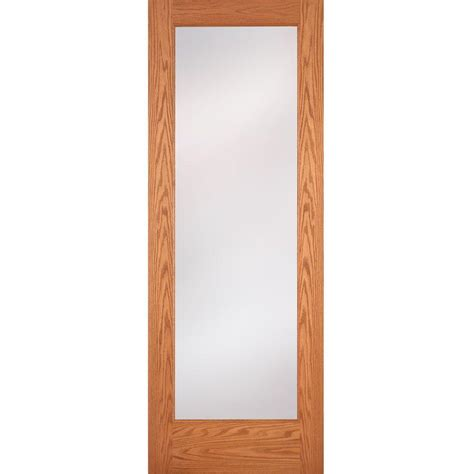 home depot interior glass doors feather river doors 36 in x 80 in 1 lite unfinished oak
