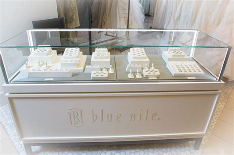 blue nile engagement rings display at nordstrom