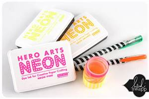 day glow with hero arts neon inks — extreme color fun on