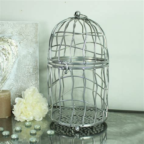 large metal bird cage large polished silver metal bird cage candle holder 6813