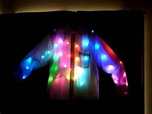 Android-Controlled LED Light Shirt Make: