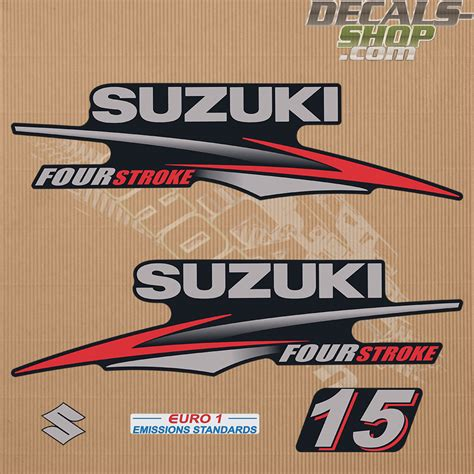 15 Hp Suzuki Outboard by Suzuki Df15 15hp Four Stroke 2010 2013 Outboard Decal Kit