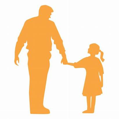 Daughter Father Silhouette Dad Svg Transparent Vector
