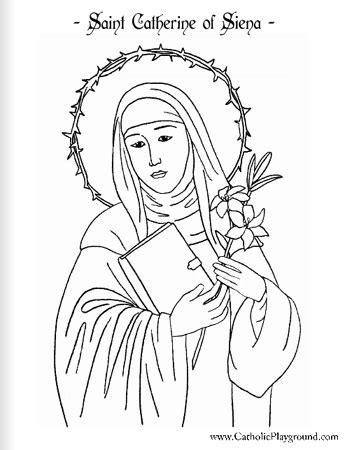 saint catherine  siena coloring page april  st
