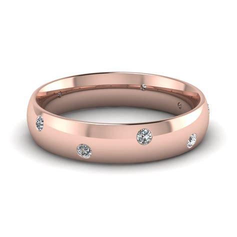 14k rose gold white diamond men s wedding ring fascinating diamonds