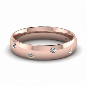 14k rose gold white diamond men39s wedding ring With mens wedding rings gold and diamonds