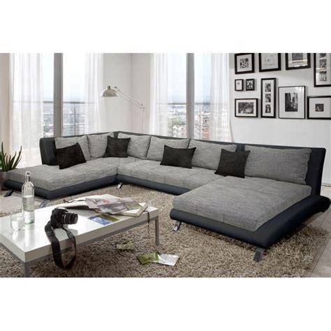 canapé d angle gris et noir canapé d 39 angle panoramique gris et noir cheyenne atout