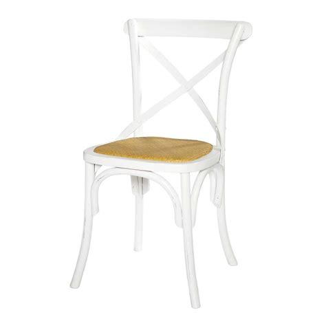 chaise rotin maison du monde chaise en rotin et bouleau blanc tradition maisons du monde