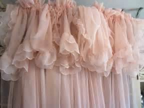 vintage pale pink curtains shabby chic feminine pale