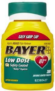 Bayer Low Dose Baby Aspirin