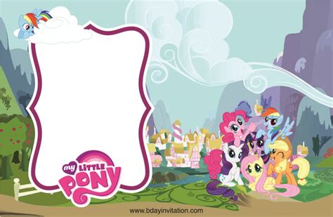 printable   pony birthday invitation