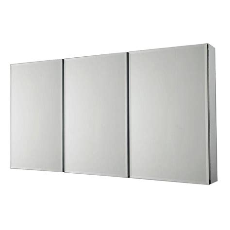 surface mount medicine cabinet with mirror pegasus 36 in x 31 in recessed or surface mount tri view