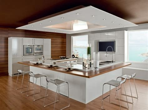 hotte aspirante professionnelle cuisine 107 idées de îlot central de cuisine fonctionnel et convivial