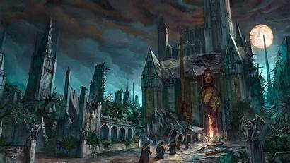 Gothic Dark Fantasy Horror Church Cathedral Monk