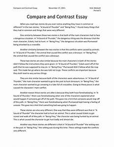 Reflective Essay On High School Examples Of Essays Comparing Two Books Cinderella Writing Paper Comparative Essay Thesis Statement also Argument Essay Paper Outline Example Comparison Essay A Research Proposal Format Example Of Essay  Global Warming Essay Thesis