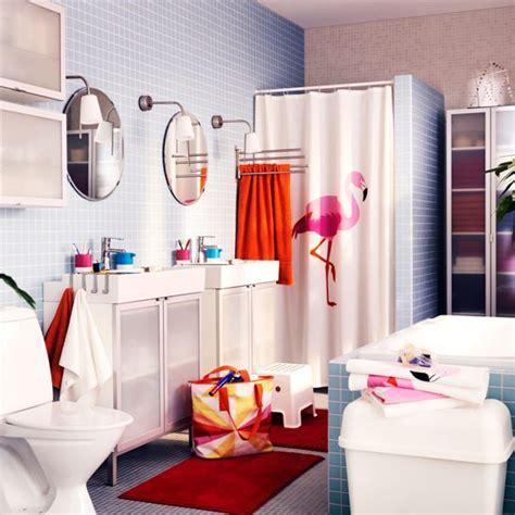 Family Bathroom Ideas by Flamingo Shower Curtain Family Bathroom Ideas