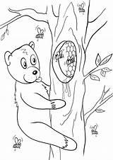 Honey Coloring Honey2 Coloringway sketch template