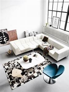 boconcept 2013 une collection meubles luminaires et With tapis peau de vache avec canapé d angle en lin