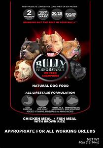 Bully performance natural dog food bullyperformance for Bully dog food