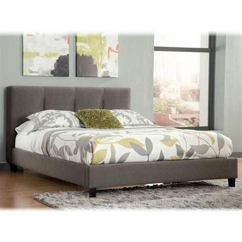 queen upholstered platform bed  channel tufted
