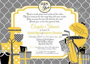 couples his and hers bridal shower party invite by With his and her wedding shower invitations
