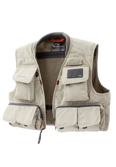 simms vest freestone fishing sand guide stone fly jacket duranglers clothing vests
