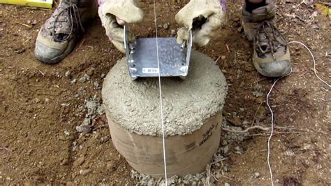 Adding Bracket On Concrete Footer
