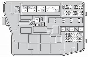 Toyota Corolla (2012 - 2016) - fuse box diagram - Auto Genius