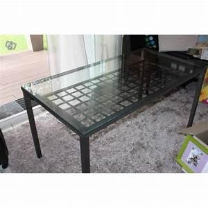 Table Verre Et Fer Forgé : table manger en verre ikea ~ Teatrodelosmanantiales.com Idées de Décoration