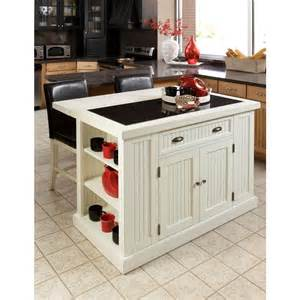 permanent kitchen islands home styles nantucket white kitchen island with granite top 5022 94 the home depot