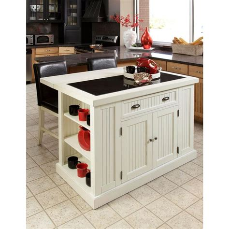 white island kitchen home styles nantucket white kitchen island with granite