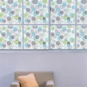 Film Pour Vitre : sticker pour vitre cercles 2 film pour vitres ~ Melissatoandfro.com Idées de Décoration