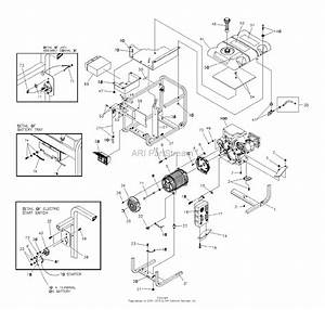 Snapper G62000 6200 Watt 11 Hp Generator  030216  Parts Diagram For Generator Main Unit