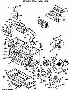 Hotpoint Model Rvm120g01 Microwave  Hood Combo Genuine Parts