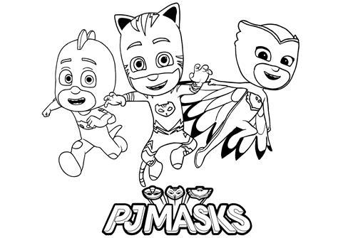 les  heros catboy owlette  gekko coloriage pj masks