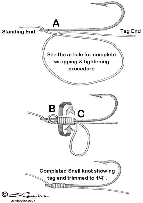 snell knot tying knots yes