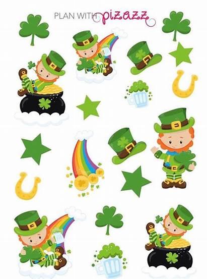 Leprechaun Clipart Clip St Patrick Stickers Sticker