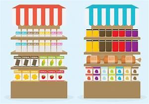 Supermarket Shelf Vectors - Download Free Vector Art ...